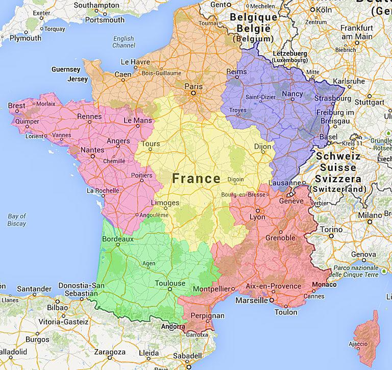 Kies Een Gebied In Frankrijk Camping Frankrijk Nl